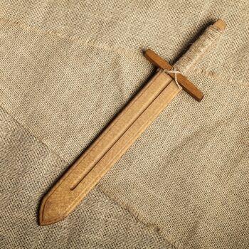 Сувенир деревянный Меч воина, массив бука, 40 см