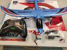Радиоуправляемый самолет FX818 Pterosaur Blue 2.4G для начинающих, синий