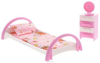 Набор мебели Кровать с тумбочкой 12х6,5х22 см