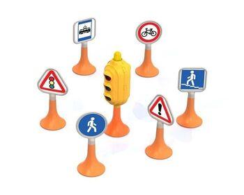 Набор Дорожные знаки №1 (светофор, 6 знаков) 17х12х12 см