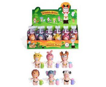 Пупс-куколка в индивидуальной капсуле, серия Дикие животные, 24 шт. в дисплее 6 видов в ассортименте,