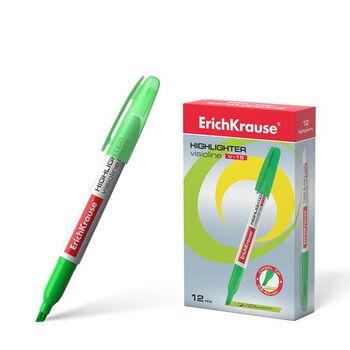 Маркер текстовый ErichKrause Visioline V-15, цвет чернил зелёный (в коробке по 12 шт.)