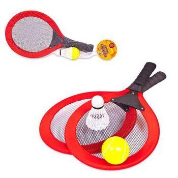 Набор Бадминтон и теннис, 2 в 1, 4 предмета, в сетке