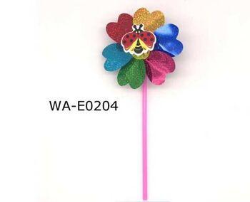 Ветрячок Цветочек малый с насекомым, 35х15х4см, 4 вида в ассортименте