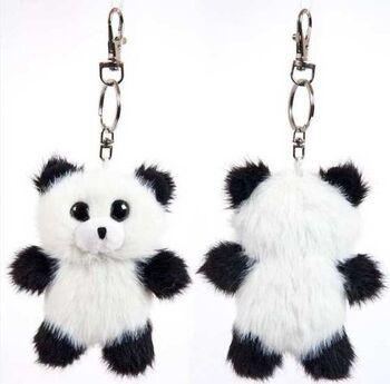 Флэтси Мини. Панда с подвесом, 9,5 см
