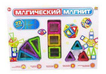 Конструктор Магический магнит, не менее 77 деталей, в коробке
