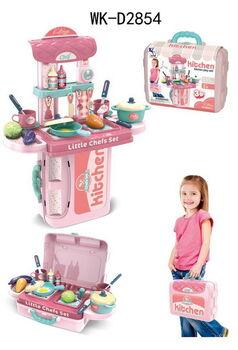 Чемоданчик-трансформер Кухня маленького шеф-повара, розовая