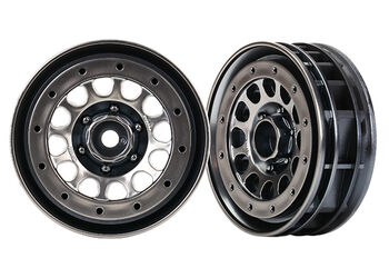 Запчасть для Traxxas диски  Wheels, Method 105 1.9 (black chrome, beadlock) (beadlock rings sold separately)