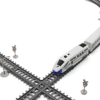 Железная дорога, скоростной поезд, дорожные знаки, длина полотна 365 см - BSQ-2182