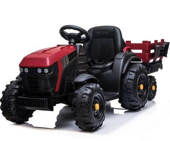Электромобиль Bettyma трактор с прицепом 2WD 12V - BDM0925-RED