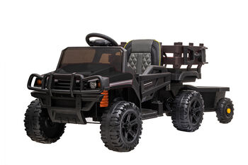 Электромобиль Bettyma квадроцикл с прицепом 2WD 12V - BDM0926-BLACK