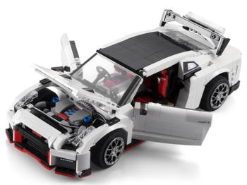 Конструктор CADA deTech Nissan GTR R35 (1322 детали) - C61020W