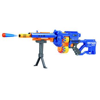 Винтовка синяя на батарейках с мягкими пулями - G3A