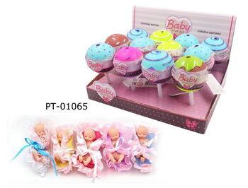 Кукла ABtoys Baby Boutique Пупс-сюрприз в конфетке с аксессуарами, 12 шт. в дисплее, 5 видов в коллекции