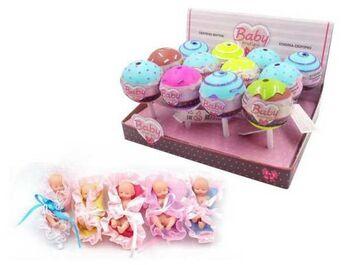 Кукла ABtoys Baby Boutique Пупс-сюрприз в конфетке с аксессуарами 5 видов в коллекции,