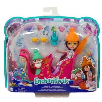 Игровой набор Mattell Enchantimals Рождественские сани с Фелисити Лис