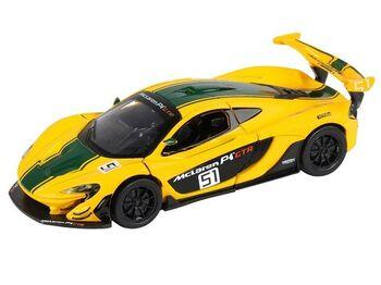 """Машина """"АВТОПАНОРАМА"""" Mclaren P1™ GTR, желтый, 1/32, свет, звук, инерция, в/к 17,5*12,5*6,5 см"""
