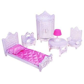 "Набор мебели для спальни ""Гарнитур"" Сонечка (Для любимой куклы) 36х29,5х16,5 см"