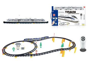 Железная дорога с пультом управления (поезд Белый экспресс, длина полотна 396 см, свет, звук) - 2806Y-2