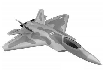 Радиоуправляемый самолет Volantex RC F22 400мм 2.4G 4ch LiPo RTF with Gyro