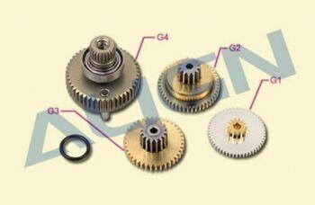 Шестерни G1, G2, G3, G4 сервомашинки DS650 металл