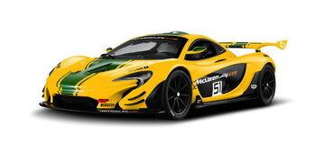 Радиоуправляемая машина Rastar 75000 McLaren P1 GTR 1:14, цвет жёлтый 27MHZ
