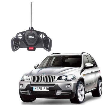 Радиоуправляемая машина Rastar 23100 BMW X5 1:18, цвет серебряный 40MHZ