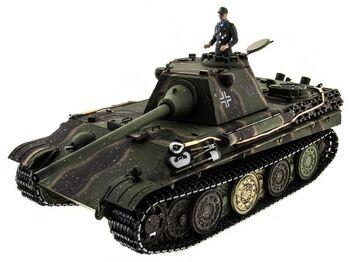 Радиоуправляемый танк Taigen Panther type F HC масштаб 1:16 2.4G - TG3879F-1HC