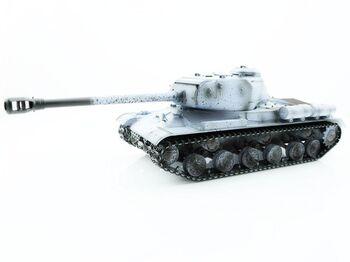 Радиоуправляемый танк Taigen 1/16 ИС-2 модель 1944, СССР, зимний, 2.4G, деревянная коробка