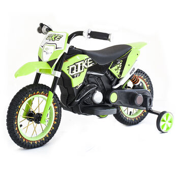 Детский кроссовый электромотоцикл Qike TD Green 6V - QK-3058-GREEN