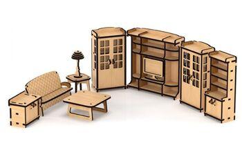 Набор кукольной мебели Гостиная для домика Венеция