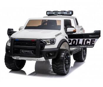 Электромобиль Ford Ranger Raptor Police с мигалками - DK-F150RP-WHITE