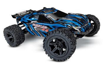 Радиоуправляемая машина Traxxas Rustler 4X4 4WD Blue RTR 1/10