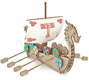 Конструктор из дерева Корабль Викингов Драккар