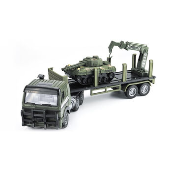 Радиоуправляемый грузовик-трейлер + танк CityTruck 1:18 - 551-B2