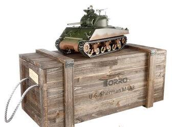 Радиоуправляемый танк Torro Sherman M4A3 1:16 (инфракрасный) 2.4GHz