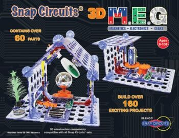 Электронный конструктор Snap Circuits 3D M.E.G.