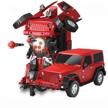 Радиоуправляемый робот трансформер Jeep Rubicon Красный цвет 1:14 - 2329PF