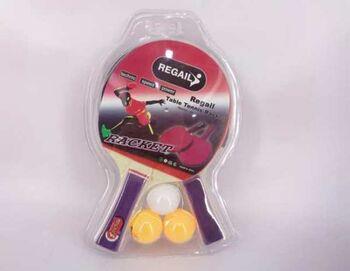 Теннис настольный: 2 ракетки, 3 шарика, 20х3х31 см