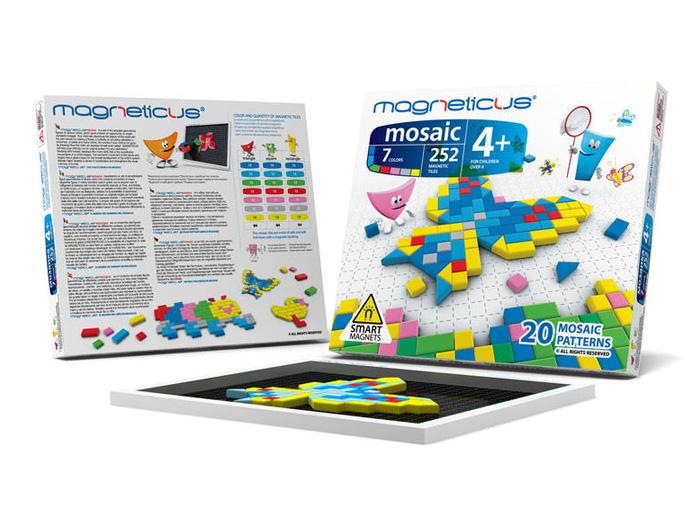 Магнитный конструктор MAGNETICUS Мозаика магнитная 252 элемента