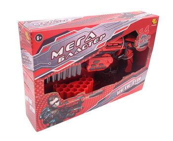 Мегабластер Набор для стрельбы мягкими пулями (бластер и 14 пуль в комплекте)