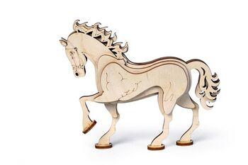 Конструктор 3D деревянный Lemmo Конь - С-6
