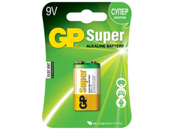 Батарейки для пульта управления GP Super Alkaline 1604A Крона (1 шт.)