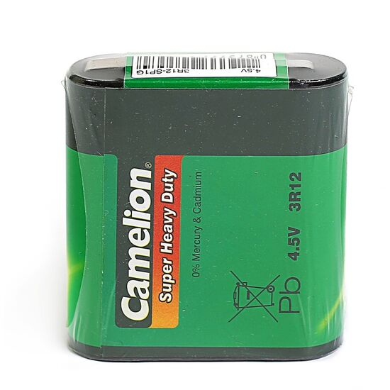 Батарейка солевая Camelion Super Heavy Duty, 3R12-1S (3R12-SP1G), 4.5В, спайка, 1 шт.
