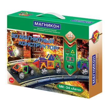 Магнитный конструктор Магникон Авто - МК-34