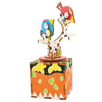 Деревянный 3D конструктор - музыкальная шкатулка Robotime Song of Bird and Tree - AM301