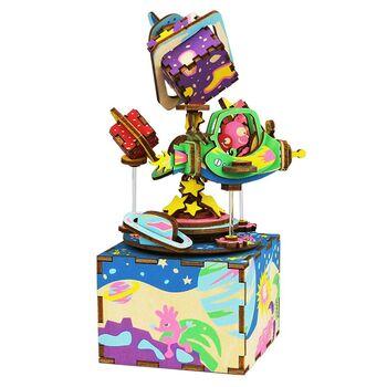 Деревянный 3D конструктор - музыкальная шкатулка Robotime The Universe - AM403