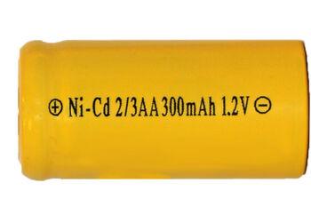 Аккумулятор Ni-Cd 2/3 AAA 1.2v 300mah Flat Top (1 шт)