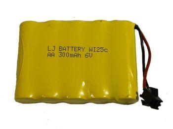 Аккумулятор Ni-Cd 6v 300mah форма Flatpack разъем YP