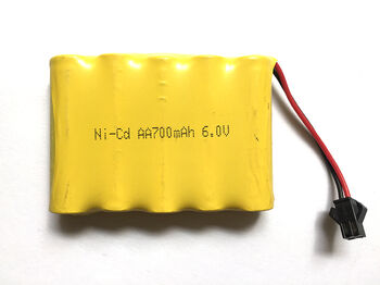 Аккумулятор Ni-Cd 6v 700mah форма Flatpack разъем YP